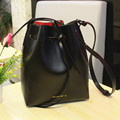 New Mansur Gavriel Bucket bag women Pu Leather String Shoulder bag Luxury Bags Famous Designer With Logo printed Mansur Gavriel