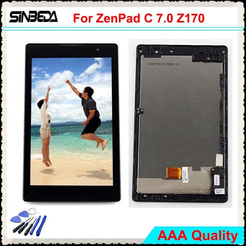 Sinbeda AAAA 7.0 LCD Pantalla Pour Asus ZenPad C 7.0 Z170 Z170CG Z170MG LCD Affichage à L'écran Tactile Digitizer Assemblée avec Cadre
