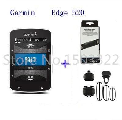 ФОТО Garmin edge 520 510 810 1000 GPS Bike Cycling Computer + heart rate monitor+Speed sensor+Cadence sensor bicycle accessories