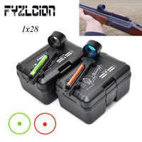 FYZCION Lightweight Airgun Air Rifle Red/Green Fiber Optics 1x 28 Collimator Dot Holographic Sight Target Range Hunting Shooting