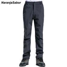 NaranjaSabor Men's Brand Clothing 2017 Autumn Mens Casual Pants Add Fleece Men's Thick Trousers Male's Jogger Winter Warm Pants