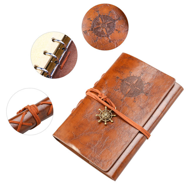 Vintage Pirate Printed PU Leather Notebook
