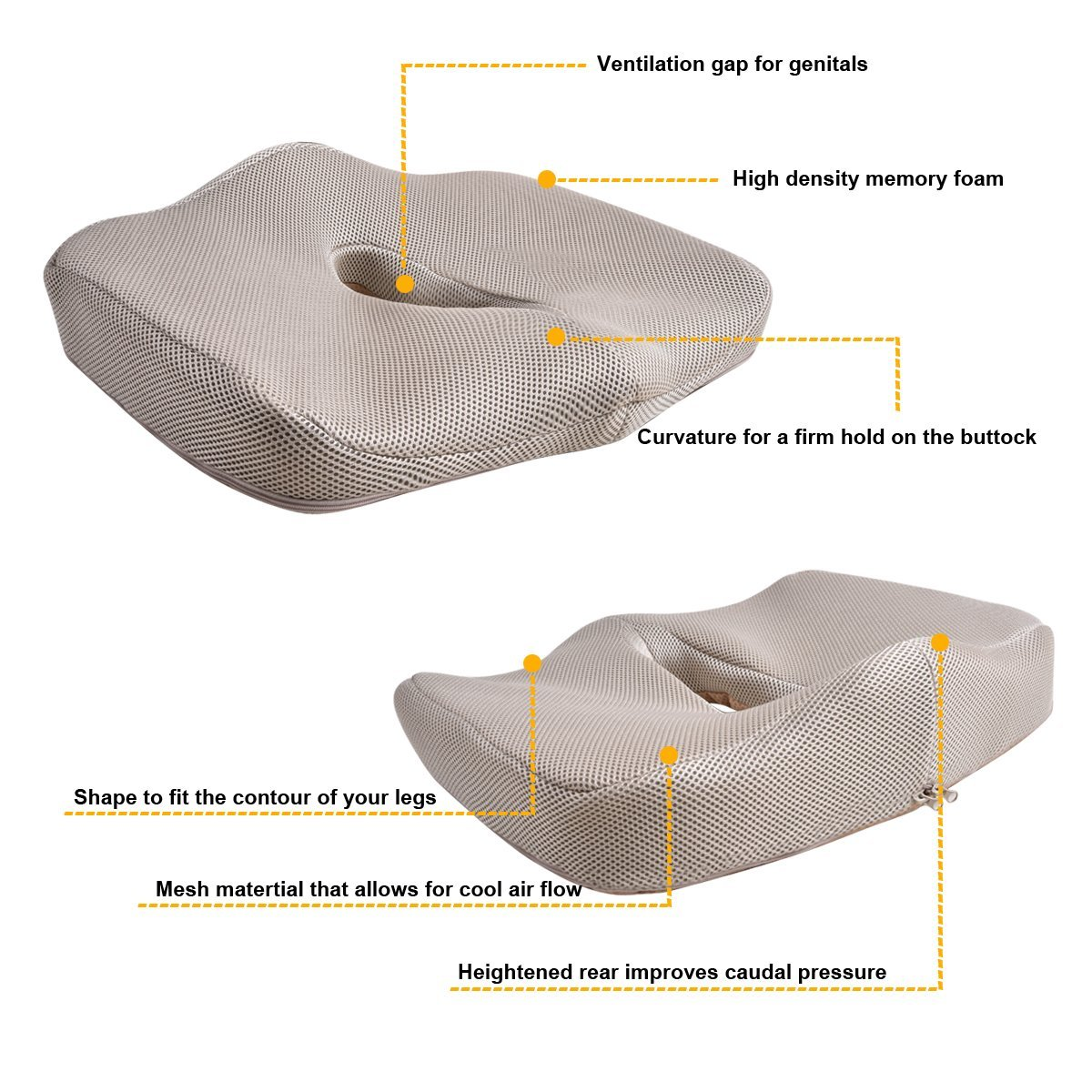 Car-pass SUPER MEMORY FOAM Seat Cushion For Office, Vehicles,Home ...
