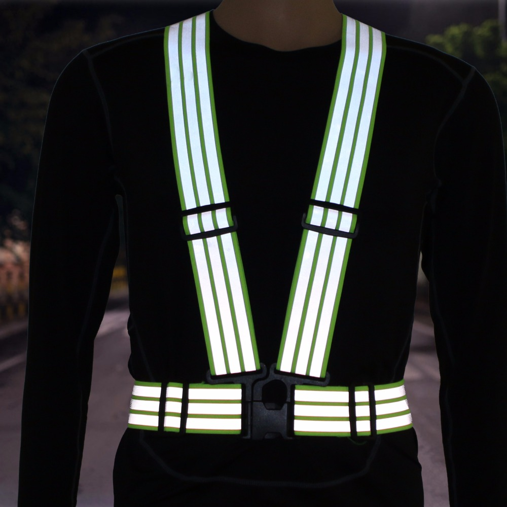 Reflective belted vest riding traffic movement can adjust elastic tightness safety reflective waistcoat