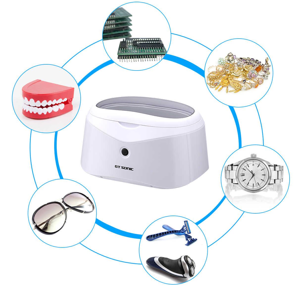 Gtsonic 600 Ml Ultrasonic High-Power Auto Shut-Off Ultrasonic Washer Bath Cleaner untuk Perhiasan Jam Tangan Kacamata gigi