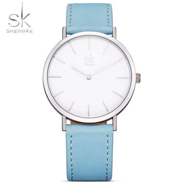 Shengke Marque Nouvelle Mode Montres Top Célèbre Marque De Luxe Quartz Montre Femmes Montres Reloj Mujer Chaude Horloge En Cuir Montres SK