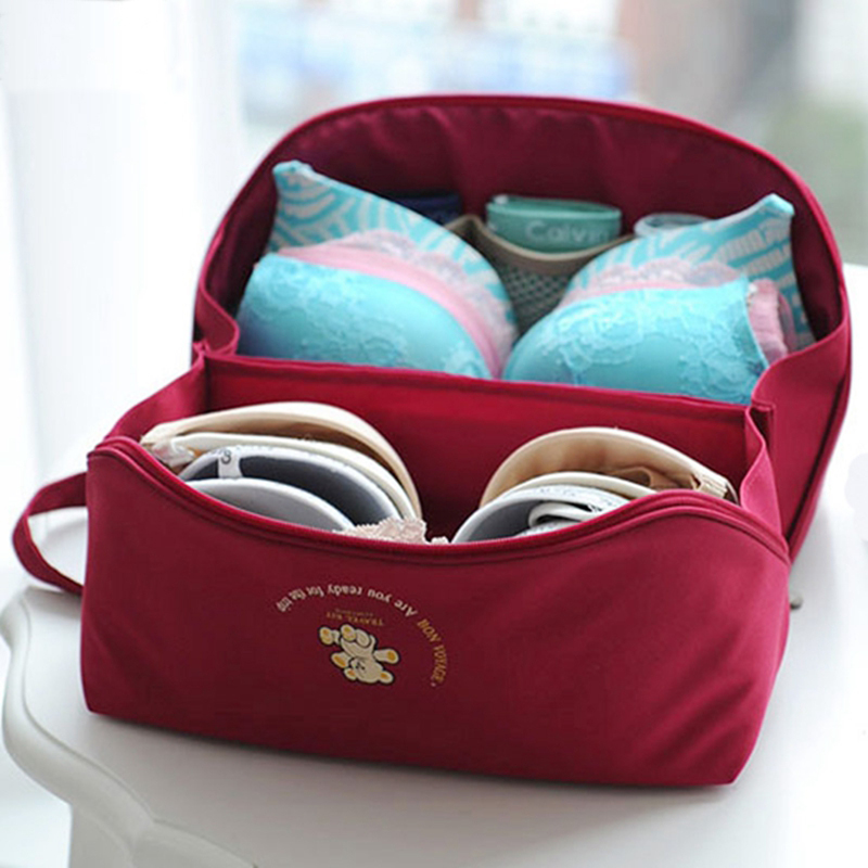 Travel Portable Storage Bag Women Necessaries Bra Organizer Underwear Case handbags Luggage pouch Socks Makeup organiser Bags