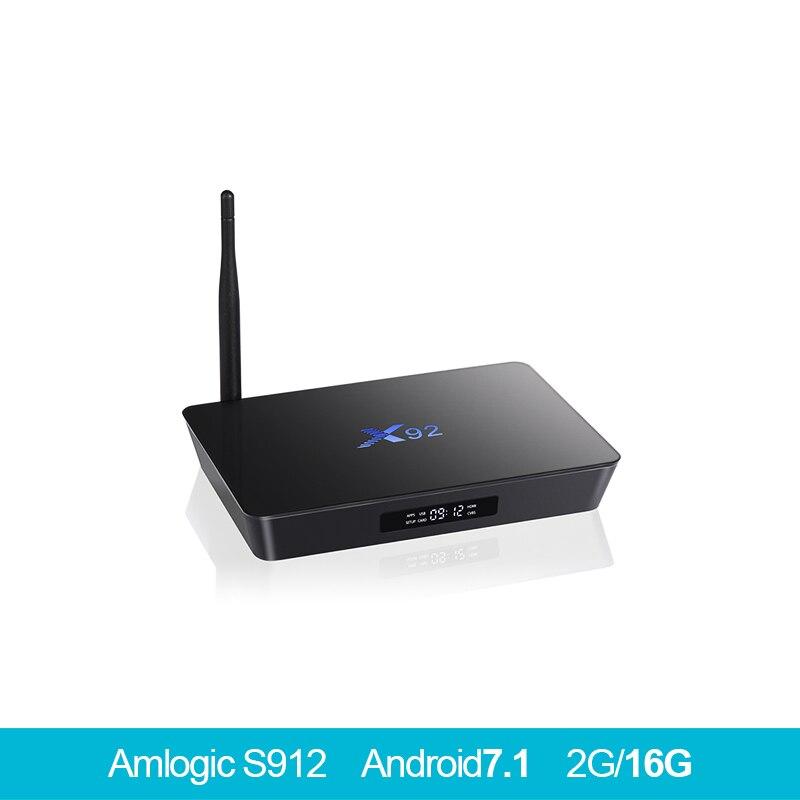 X92 Android 7.1 tv box2GB + 16 gb/3 gb + 32 gb Amlogic S912 Octa Core 4 k h.265 KD16.1 2.4/5 ghz Wifi Set Top Box pk x96mini tv box