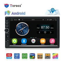 Topbox 2 Din Android font b GPS b font Navigation Car Radio Stereo 7 Touch Screen