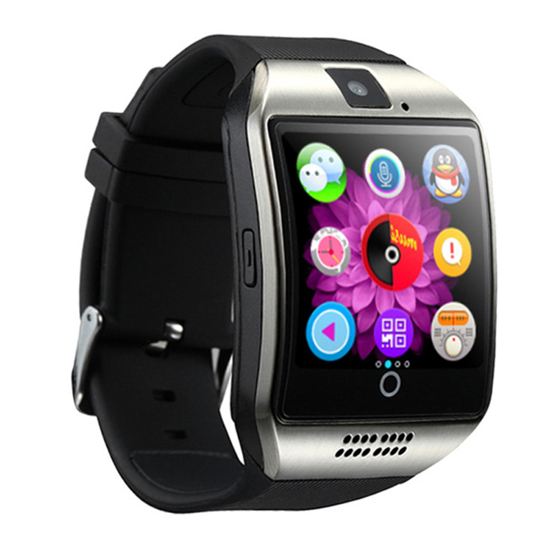 Под задней крышкой smart watch q18s находится аккумуляторная батарея, а под ней лоток для sim card и карты памяти.