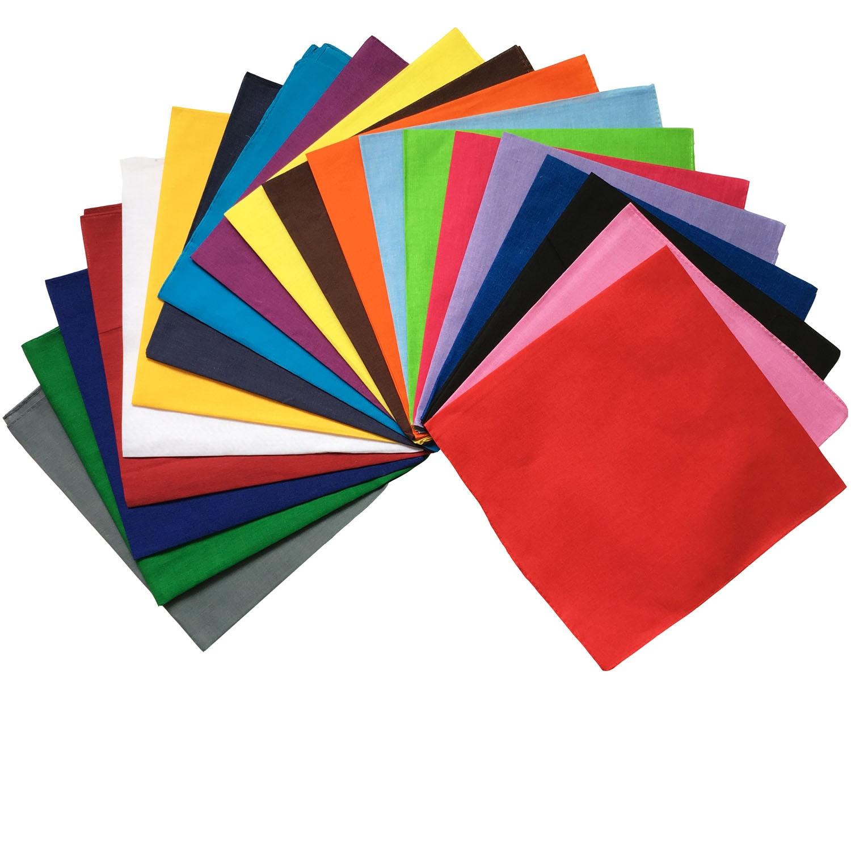 100%Cotton Cotton solid color Bandana Multipurpose Hip-hop Bandanas Hair bands Head   Wrap     Scarf     Scarves   Band Headtie for Men