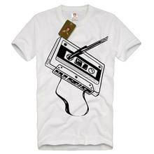 Classic Old Skool Cassette Tape Dj Men'S Music Audio Mix Retro 2019 Summer High Quality Tees Nerd T Shirts(China)