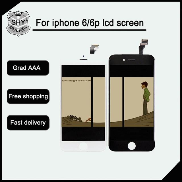 Aaa + + + calidad negro blanco para apple iphone 6 lcd ningún pixel muerto reemplazo lcd de pantalla táctil digitalizador envío libre