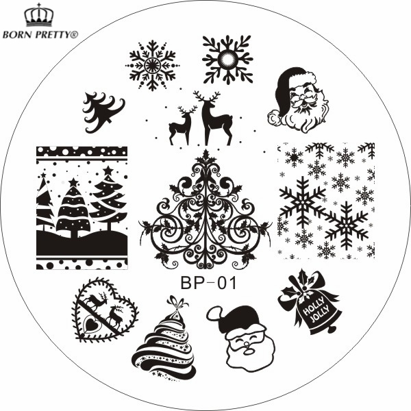 Aliexpress.Com : Buy Christmas Xmas Theme Nail Art Stamp Template