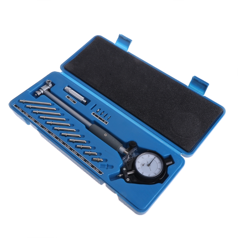 Dial Bore Gauge 50-160mm Hole Indicator Measuring Engine Cylinder Gage Tool Kit L15 shan dial bore gauge 50 160mm 0 01mm metric cylinder internal bore measuring gage dial indicator measuring tools