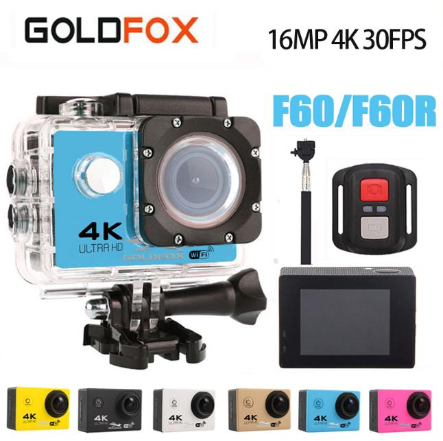 Goldfox H9 Style Action Camera Ultra-HD 4K 30fps 170D Wifi Sport Action Camera 30M Go Waterproof Pro Bike Helmet Mini Camera DVR цена