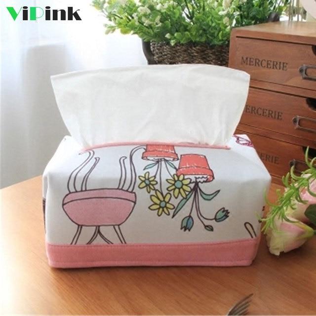 Pink Princess Cute Cartoon Tissue Box Cover Case Napkin Holder Paper Dispenser Home Kitchen Table Decoration
