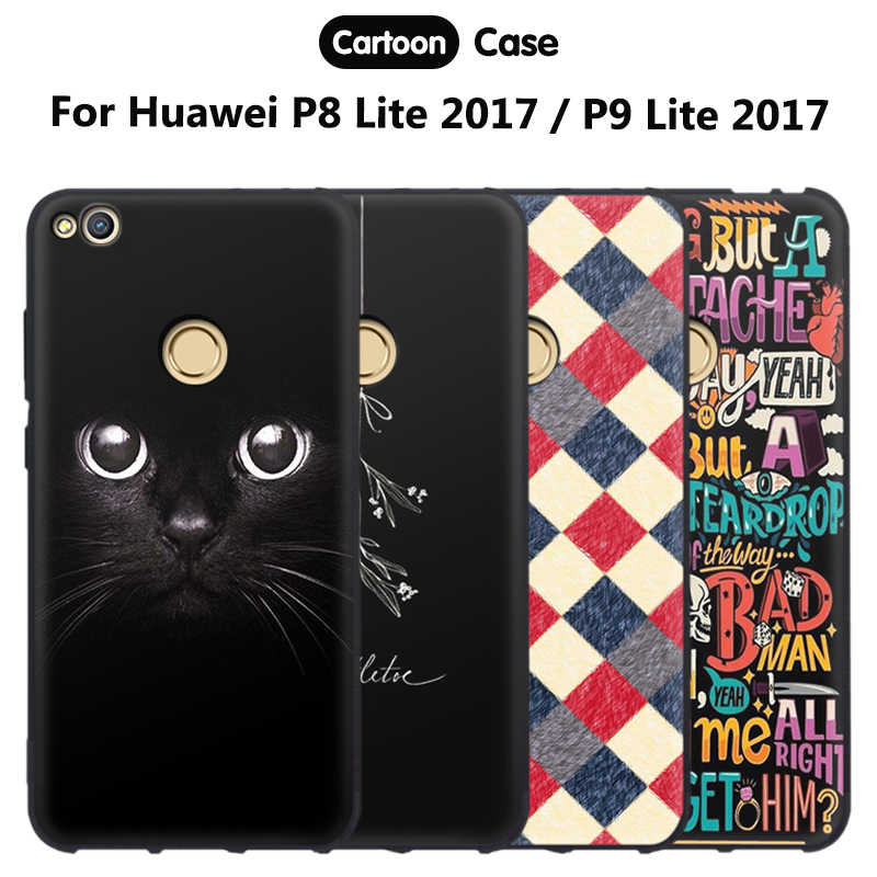 JURCHEN Phone Case For Huawei P9 Lite 2017 / Honor 8 Lite / GR3 2017 Silicone Soft Back Funda For Cover Huawei P8 Lite 2017 Case