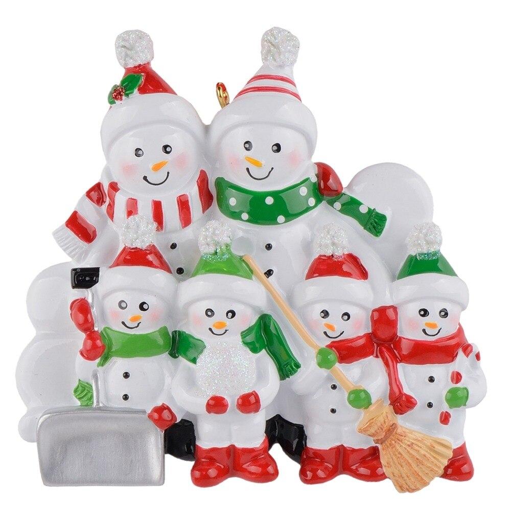 Christmas Decoration Wholesalers: Maxora Snowman Family Shovel Of 6 Resin ChristmasTree