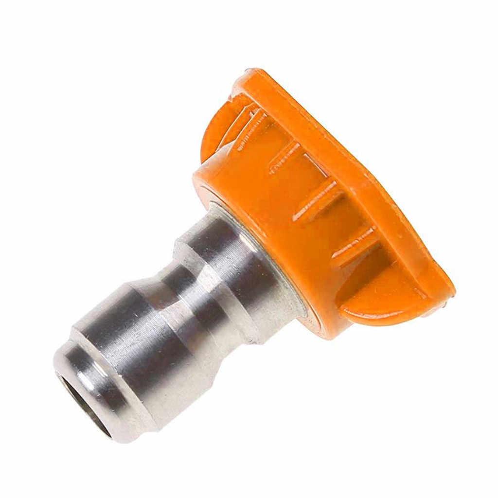 5 Pack Hogedrukreiniger Sproeikop Tips Auto Wasmachine Metalen Jet Lance Quick Nozzle Tips 1/4 Quick Connect Attachment #35