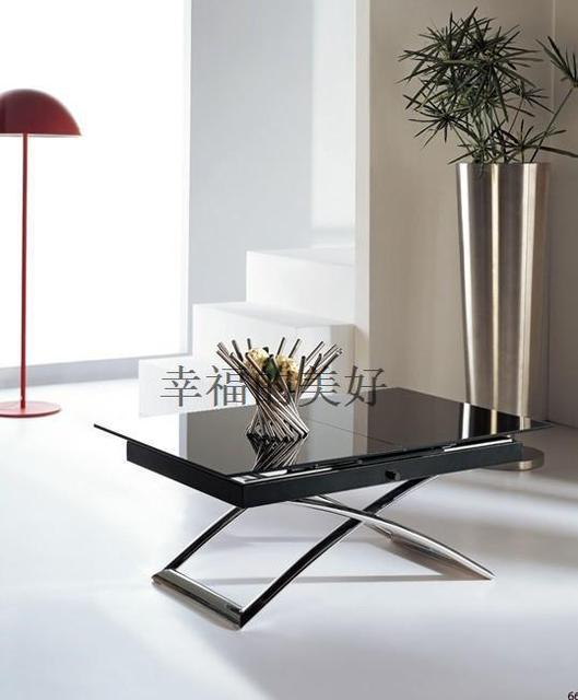 Ikea moderno minimalista mesa de comedor rectangular de cristal mesa ...