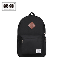 8848 Men Black Backpacks Trendy Fashion Bags Resistant Waterproof Material Backpacking  Trendy Shoe Pocket Knapsack D020-3