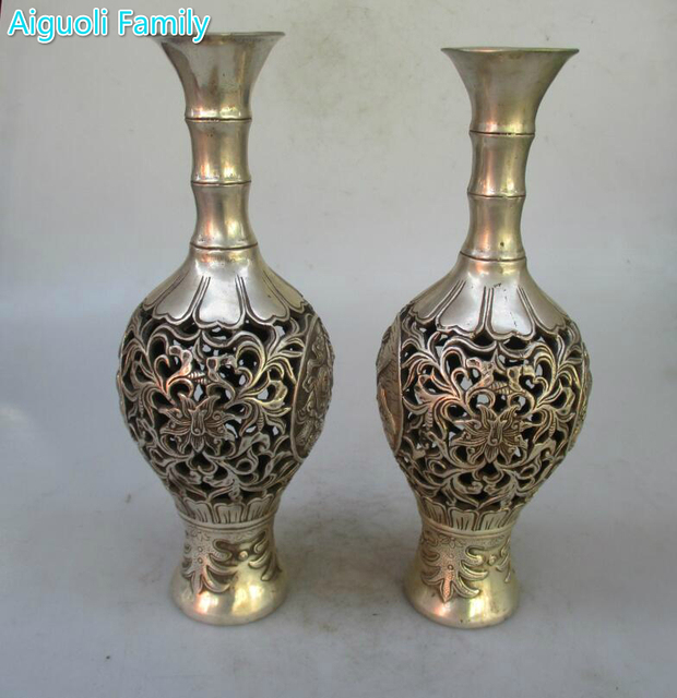 Collectible 1 Pair Of Chinese Ming Qing Dynasty Decorated Old