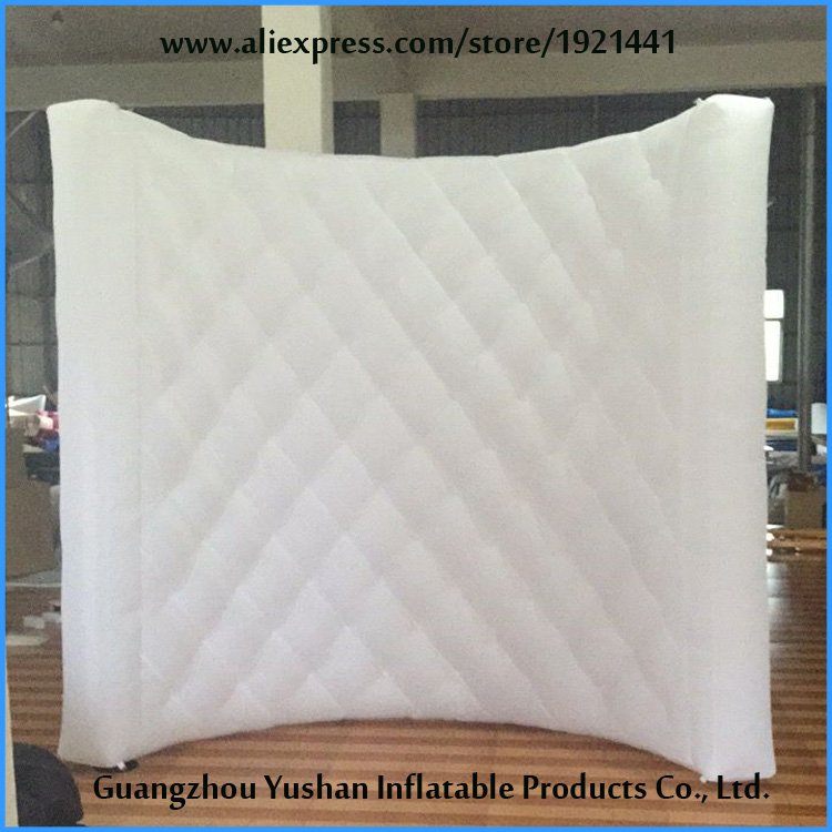 Принять заказ новый дизайн 2.4 м/8ft надувные стены в алмазе