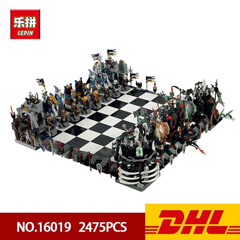DHL Lepin 16019 2475 pièces Creative The films série château International échecs 2475 pièces bloc de construction briques enfants jouets cadeaux
