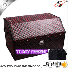 OTLEY High grade leather car stowing tidying car trunk storage box high grade leather material R7268