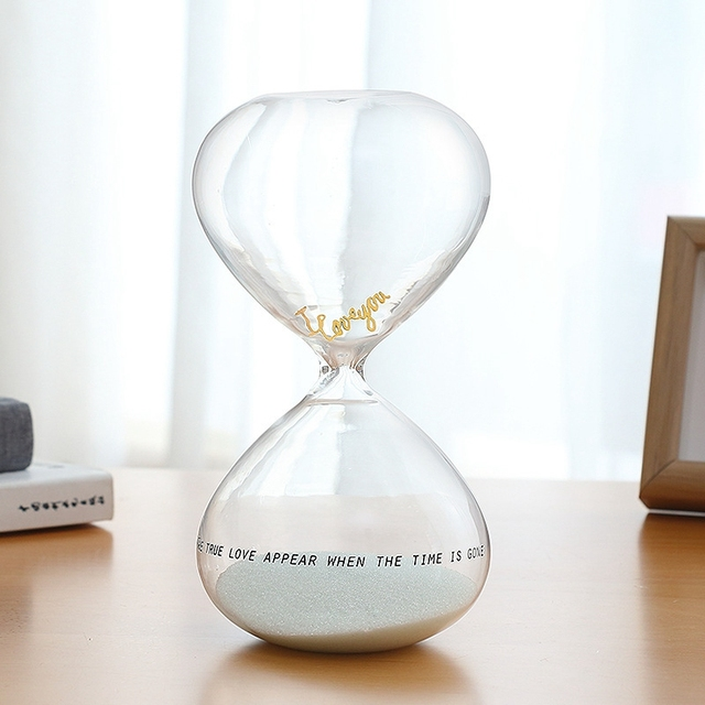 Modern Simple Sand Hourglass Timer Clock Sand Glass Ornament Table - Decorative-hourglass