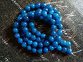 10 MM 76 unids Azul Natural Calcedonia Ágata Del Grano Semi-Joyas de piedras preciosas Perlas