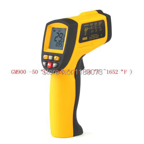NEW GM900 Non-Contact Precise Digital IR Laser Infrared Pointer Thermometer -50degree to 900 Degree Gun Free Shipping