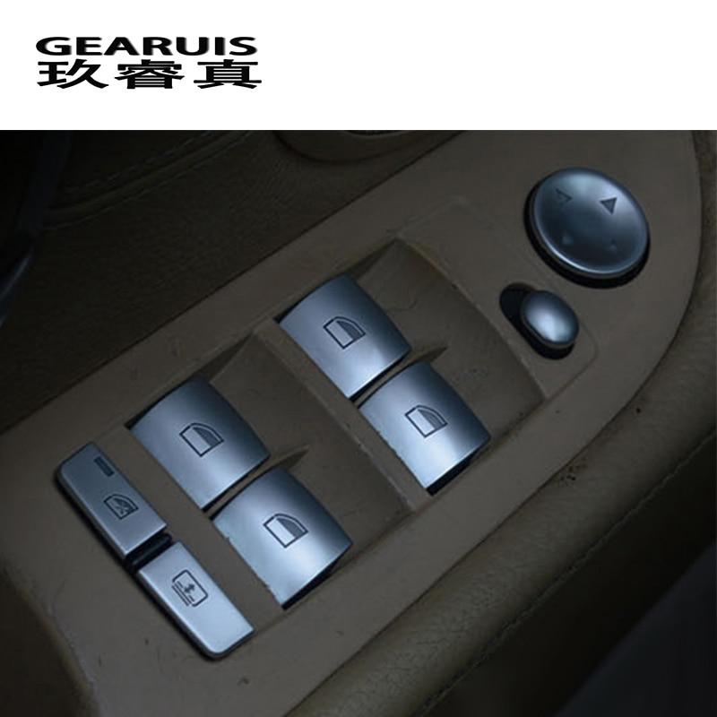 Voiture style fenêtre poussoir contrôle cadre boutons interrupteur décor accoudoir panneau couvre autocollants pour BMW e60 5 série Auto accessoires