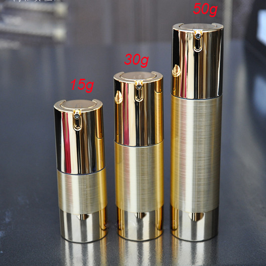 50pcs 15ML UV الذهب فراغ مضخة زجاجة ، - أداة العناية بالبشرة