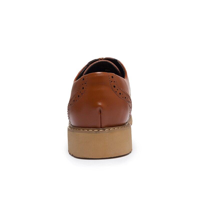 Plat Cuir Tan Mens Hombre Mariage De Robe Chaussures Zapatos brown Derby orange Casual Wingtip Derbies En Noir Formelle Black Hommes Pour Richelieus XXrO7q