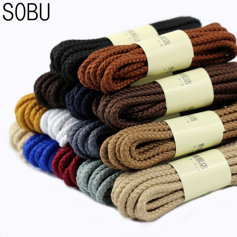 A Pair 90cm 120cm 150cm Of Classic Top Quality Polyester Solid Classic Round Shoelaces Martin Boot Shoelace Candy Colors Laces