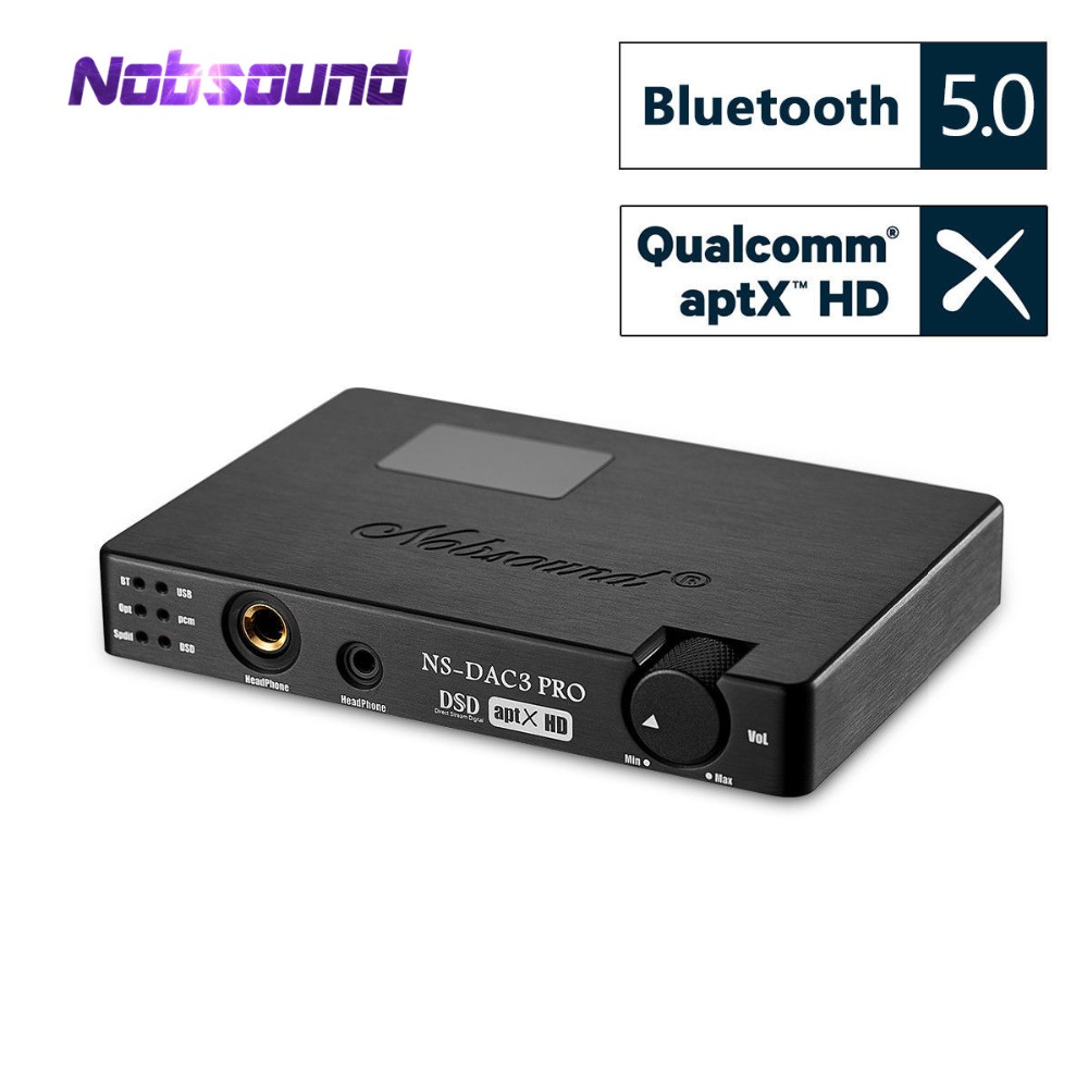 Nobsound Mini ES9038 XMOS Coaxial Optique CSR8675 Bluetooth5.0 APTX-HD USB Dop DAC Casque Amplificateur Numérique Analogique Convertisseur