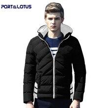 Порт и Лотоса Пальто Мужчины 2016 Новая Зимняя Мода Случайные Полосатый Куртки утолщаются мужская Одежда мужская одежда пальто 048 оптовая