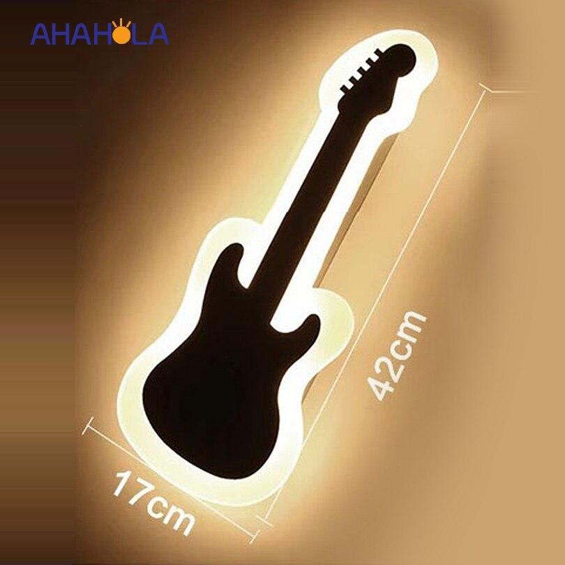 guitar shape modern wall sconce bathroom mirror lamp 16W AC 220V bedroom led wall light indoor lighting