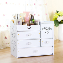 DIY White Desktop Makeup Organizer Jewelry Storage Box Cosmetic Holder with Drawers Acrylic Mirror-in Storage Boxes & Bins from Home & Garden on Aliexpress.com | Alibaba Group
