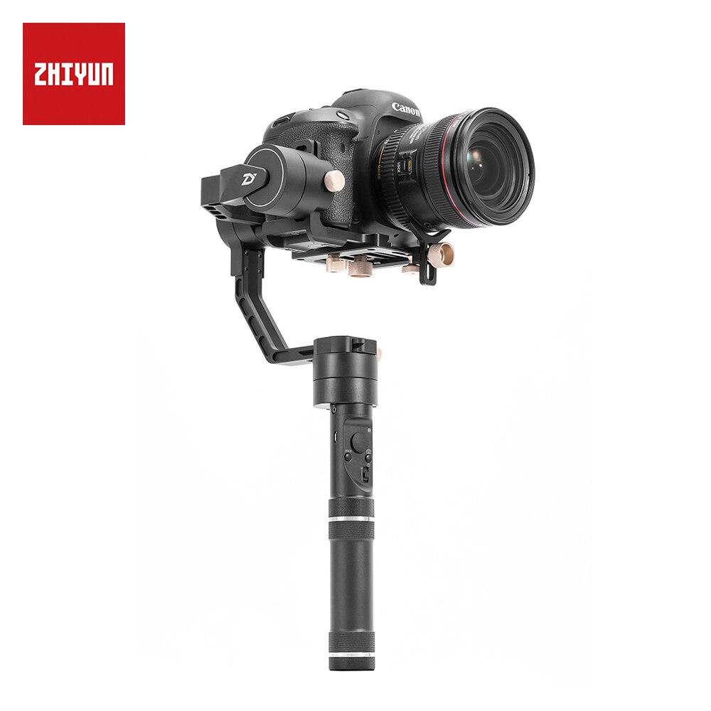 Oficial de ZHIYUN grúa más 3 eje Handheld Gimbal estabilizador para cámara réflex DSLR soporte 2,5 kg POV modo