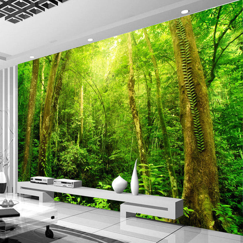 Natural Scenery 3D HD Large Wall Mural Forest Photo Wallpaper Living Room Landscape Home Improvement Customized Wall Paper Mural Home Improvement