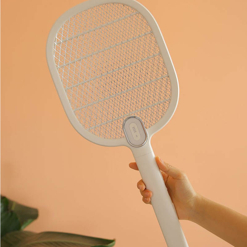 Image 4 - Xiaomi Mijia Electric Mosquito Swatter Rechargeable LED Electric Insect Bug Fly Mosquito Dispeller Killer Racket 3 Layer Net H30-in Smart Remote Control from Consumer Electronics