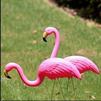 Free Shipping 2pcs Set High 74cm Pink Flamingo Garden Lawn Decoration Theme Party Dessert Table Arranged