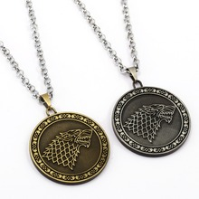 2017 New Game of Thrones Necklace Song of ice and fire Pendant Man Women stainless steel Necklaces Gift TV Jewelry Accessories