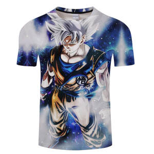 Tee Shirts Dragon-Ball-Z Short-Sleeve Printed Super-Saiyan Casual Fashion Costume Vegeta