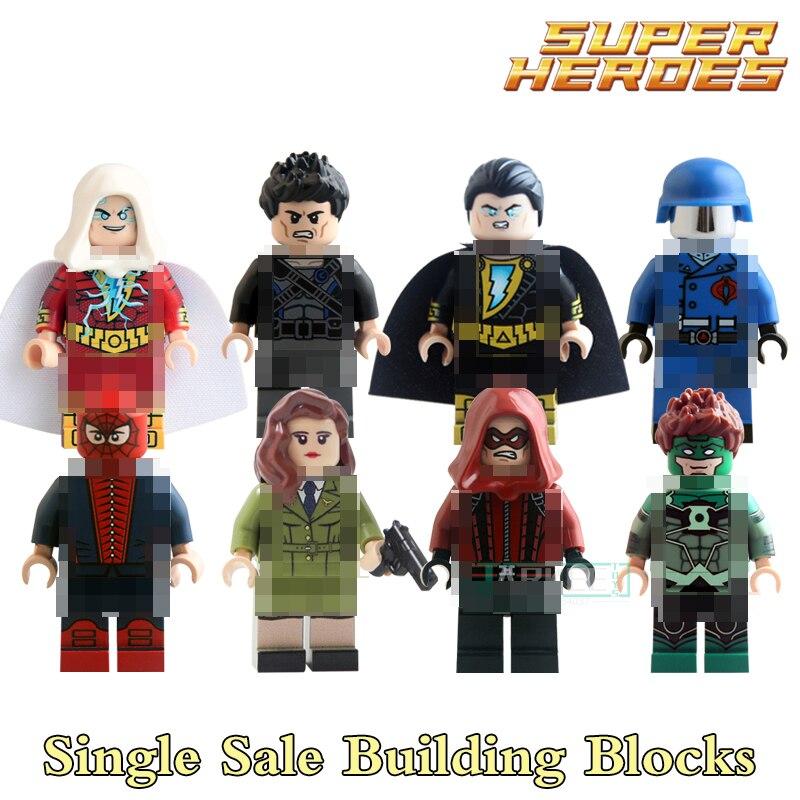 Educational Blocks Figures Series Colle Black Adam Carter Red Arrow Batman Super Hero Star Wars Bricks Kids Toys Hobbies KL9005 jsa black adam and isis