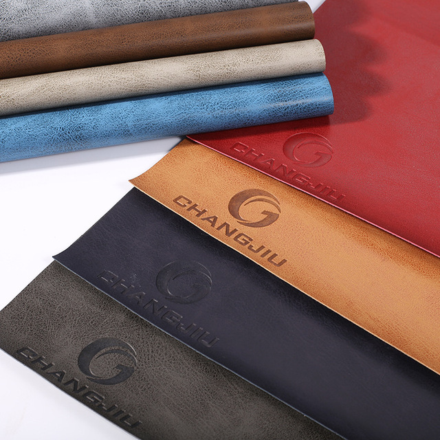 US $28 82 |Free shipping thermal discoloration pu , artificial Italian  environmental protection pressure change wholesale leather fabric-in Fabric