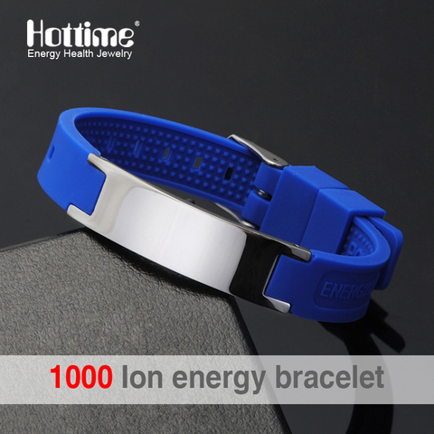 Black (Colour) Power Silicone Wristband 4 In 1 Bio Elelents Energy Magnetic Bracelet For Men Wrist Band Keep Balance Bracelets Islamabad